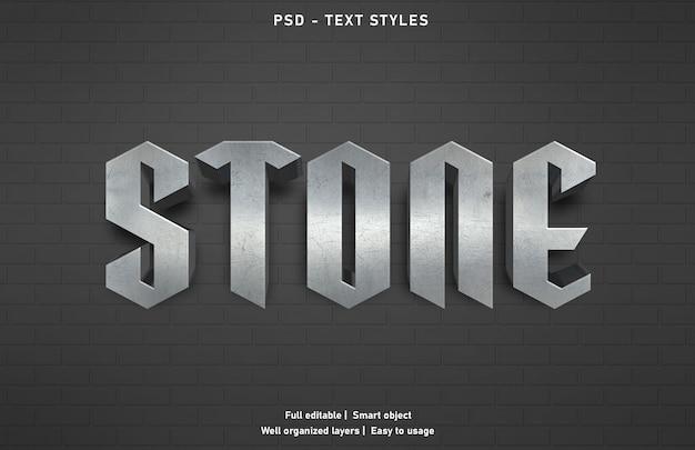 Modello di stile effetto testo in pietra