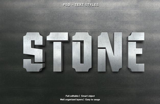 Modello di stile di effetti di testo in pietra
