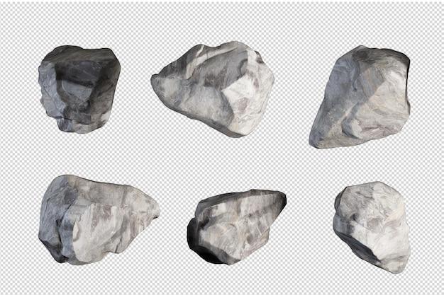 Pietre provenienti da vari paesaggi naturali