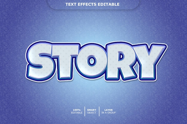Effetto testo story 3d modificabile