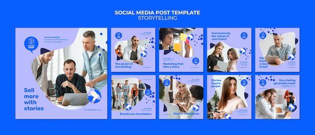 Modelli di post di instagram di storytelling con foto