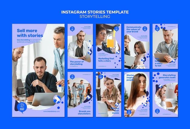 Storytelling modelli di storie di instagram con foto