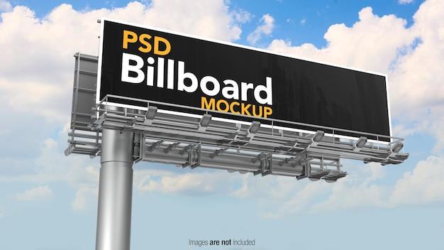 Mockup di banner cartelloni pubblicitari stradali