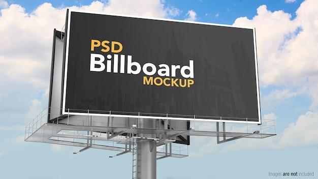 Mockup del tabellone per le affissioni di pubblicità stradale