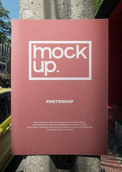 Mockup di pubblicità stradale realistico