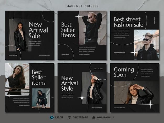 Modello di social media di vendita di moda di strada