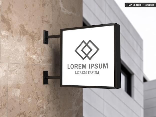 Progettazione di mockup di cartello stradale Psd Premium