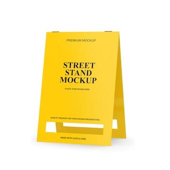 Mockup di stand di strada