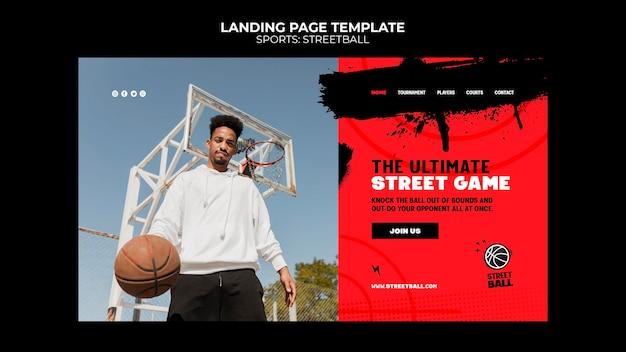 Modello di pagina di destinazione di streetball