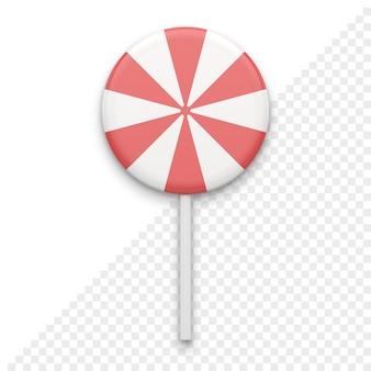 Caramelle a strisce su stick 3d icon