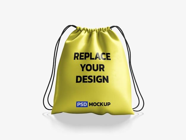 Borsa a strisce mockup 3d rendering design