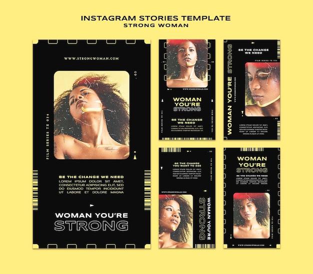 Storie di social media di donne forti