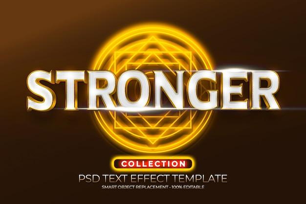 Effetto di testo più forte con oro magico