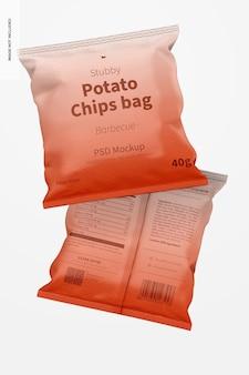 Mockup di sacchetto di patatine tozze