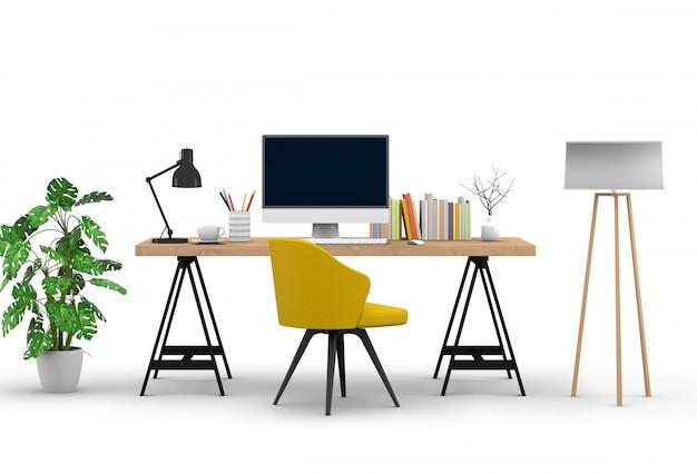 Studio computer con scrivania
