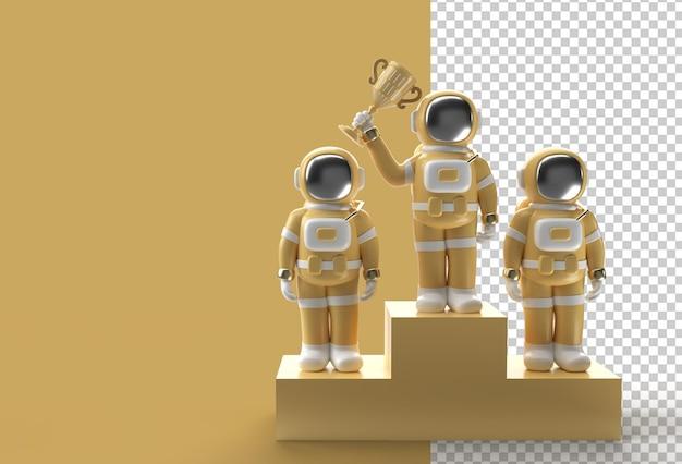 L'astronauta di successo ha vinto il trofeo del primo premio