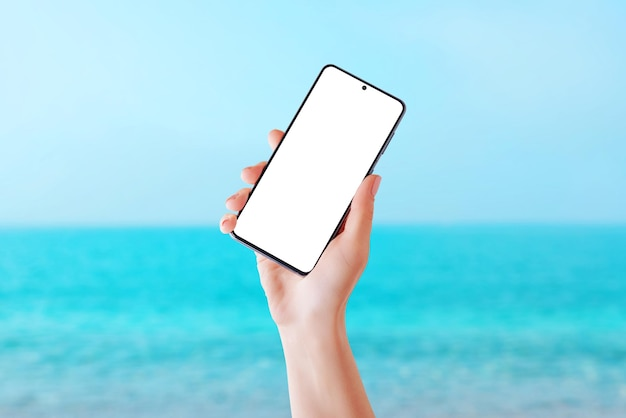 Telefono da viaggio estivo per la spiaggia