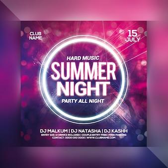 Volantino festa notte d'estate