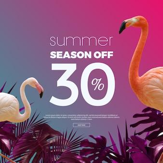 Banner di saldi estivi Psd Premium