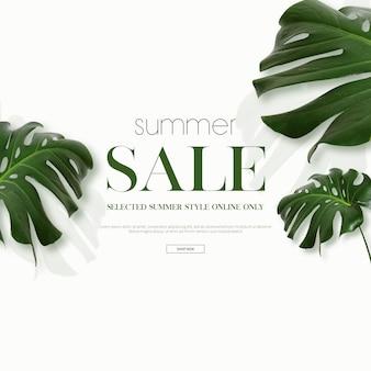 Cornice di vendita estiva e sfondo