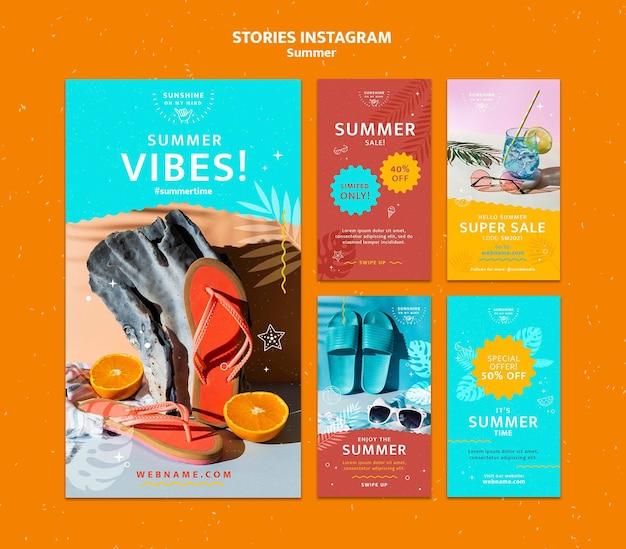 Storie di social media estive