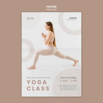 Modello di poster della lezione di yoga domenicale