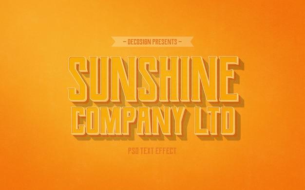 Sunshine co. mockup effetto testo vintage