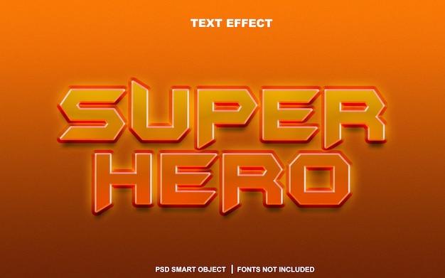 Effetto di testo super eroe. oggetto intelligente modificabile