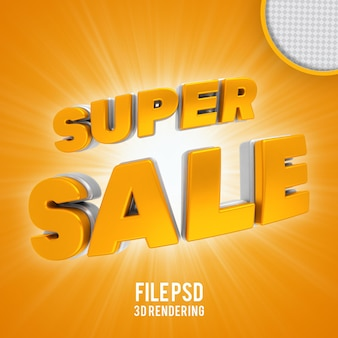 Rendering 3d banner oro super vendita