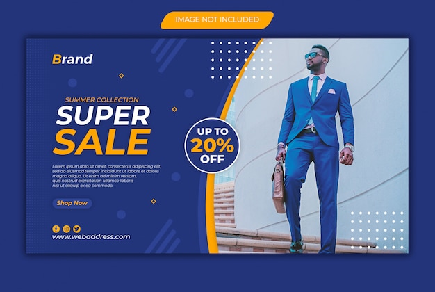 Modello di banner web super vendita