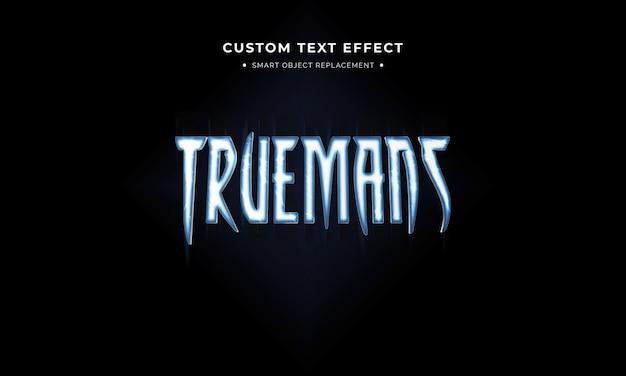 Film in stile supereroe effetto testo in stile 3d