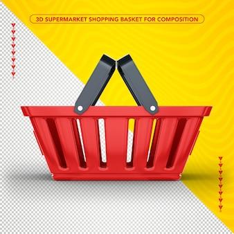 Cestino della spesa del supermercato