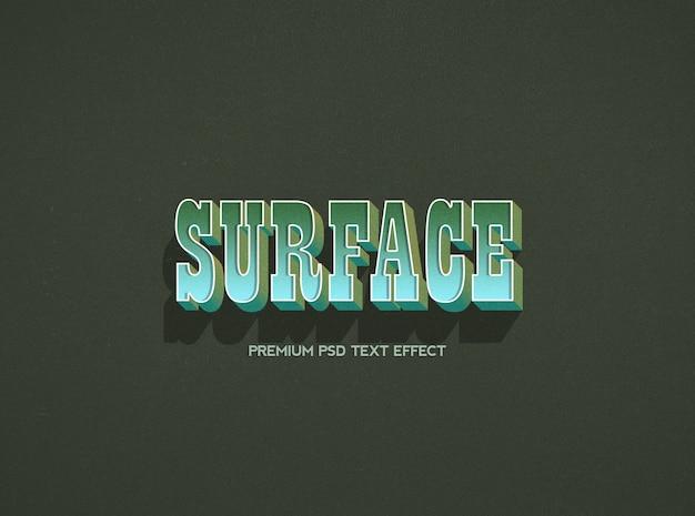 Modello di effetto del testo di superficie