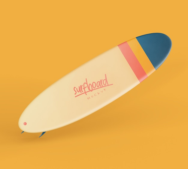 Tavola da surf mockup