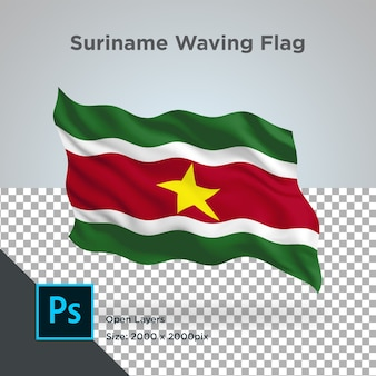 Suriname flag wave design trasparente