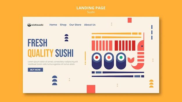 Modello di pagina di destinazione del ristorante di sushi