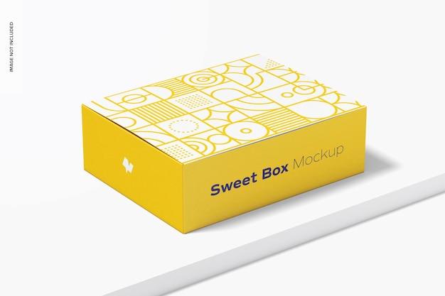 Mockup di scatola dolce
