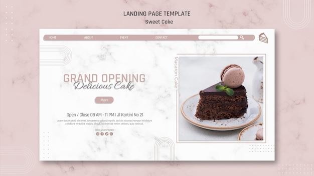 Pagina di destinazione della pasticceria dolce