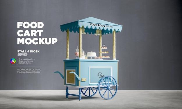 Modello di carrello di caramelle dolci in rendering 3d