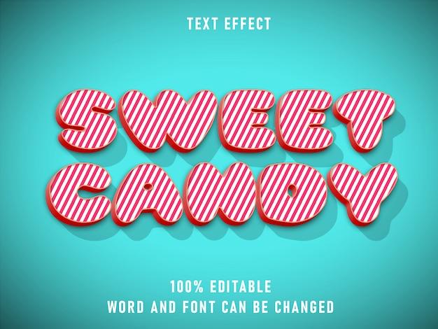 Colore editabile di effetto del testo di stile del testo di candy dolce con stile di lerciume retro