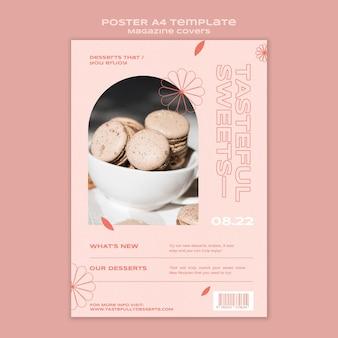 Modello di stampa di dolci e prelibatezze