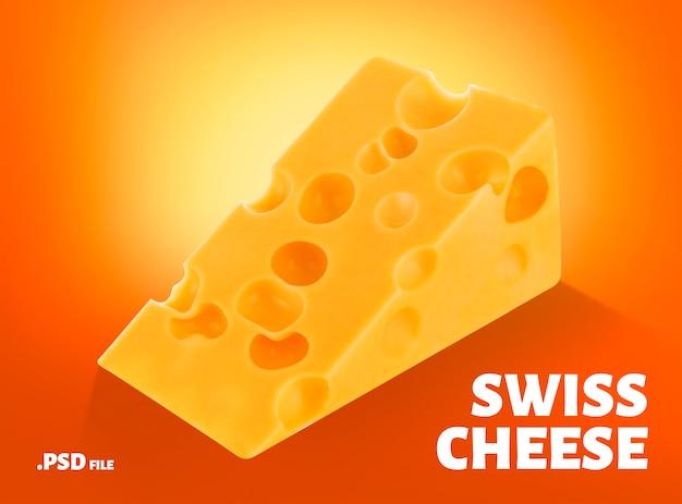 Triangolo di formaggio svizzero