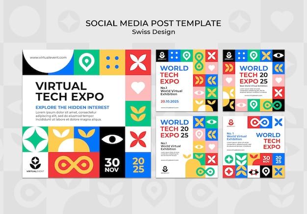 Post sui social media di design svizzero