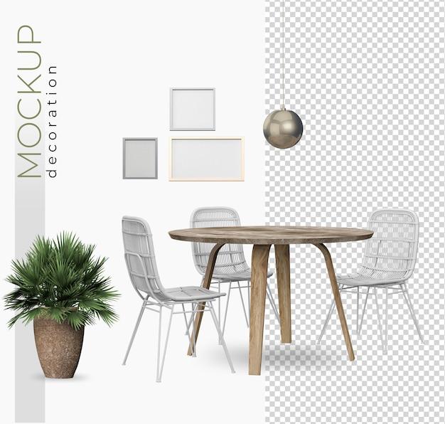 Decorazione della tavola per ufficio e casa