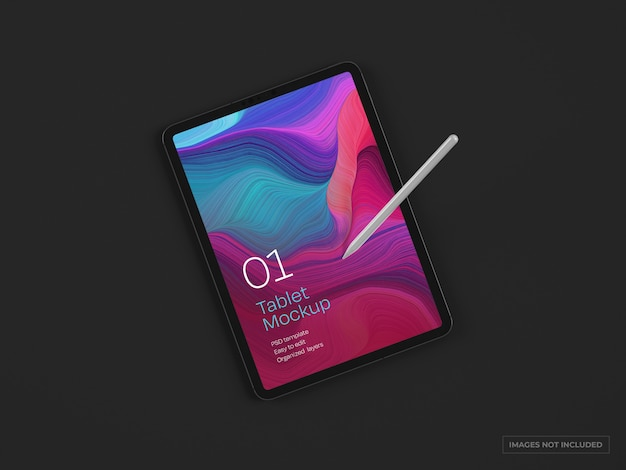 Mockup del dispositivo tablet