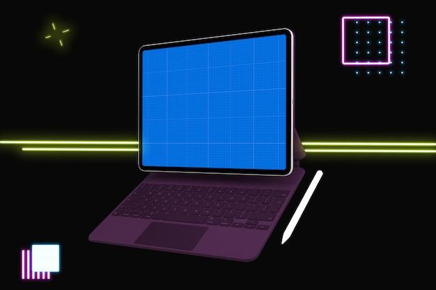 Tablet e tastiera mockup