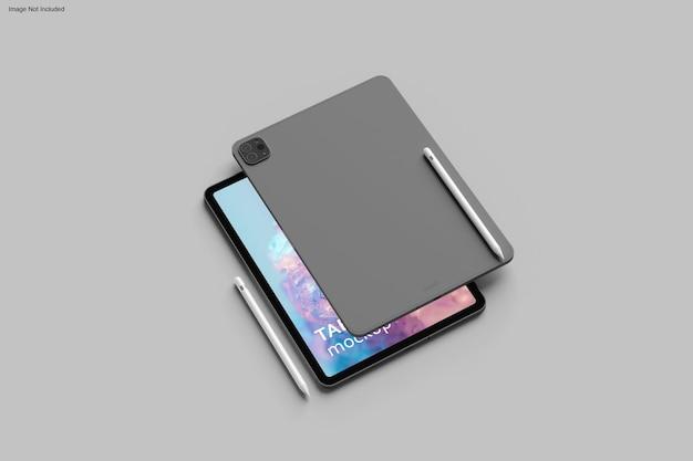 Progettazione di mockup di tablet in rendering 3d