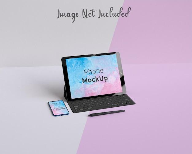 Tablet pro e phone mockup