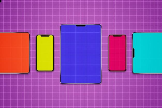 Mockup di tablet e cellulari