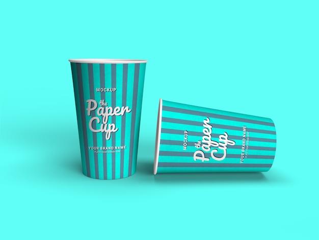 Take away coffee cup mockup isolato